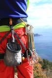 轴上升的设备冰的山 免版税库存照片