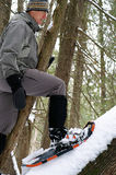 上升的雪靴 免版税库存照片