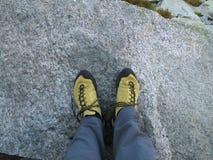 上升的鞋子 库存图片