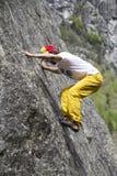 上升的结岩石系住二 免版税库存照片