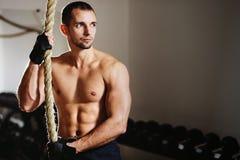 绳索上升的锻炼 库存图片