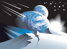 上升的spacescape星形 免版税库存照片