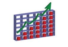 上升3D股票的图  向量例证