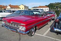 上午汽车会议halden (1959年Chevrolet Impala) 库存图片
