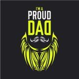 上午骄傲的爸爸例证衬衣设计 库存例证