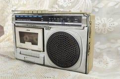 上午FM收音机盒式带录音机 图库摄影