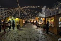 上午Hof圣诞节市场在维也纳,奥地利 库存照片