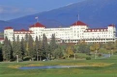 登上华盛顿旅馆,布雷顿森林,在路线302的NH 免版税图库摄影