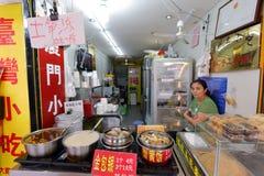 上司出售厦门和台湾快餐 库存图片