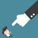 上司和雇员,恼怒的上司概念 免版税库存图片