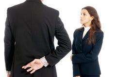 上司商业克服的手指前面查出的人员 免版税库存照片