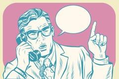 上司谈话在电话 皇族释放例证