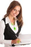 上司-工作在办公室的Preety企业secretarry妇女是 库存照片