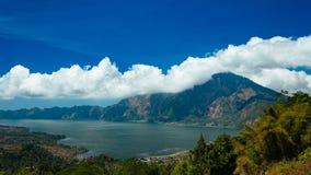 登上和湖Batur 免版税库存照片