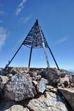 登上图卜卡勒峰上面  免版税图库摄影