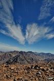从登上图卜卡勒峰的看法 库存图片