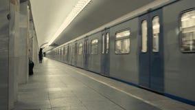 上地铁的通勤者 股票视频