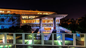 上城博物馆的夜视图 免版税库存照片