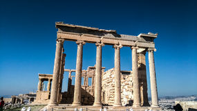 上城古老雅典希腊帕台农神庙 图库摄影