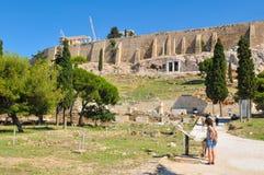 上城在希腊,雅典 免版税库存照片