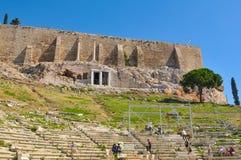 上城在希腊,雅典 库存图片