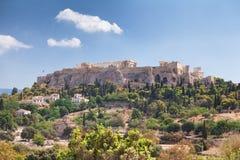 上城在雅典,希腊 库存图片