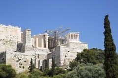 上城在雅典 免版税库存图片