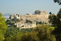 上城复杂雅典希腊 库存照片