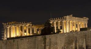 上城寺庙在雅典HD 图库摄影