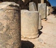 上城希腊lindos罗得斯 免版税库存照片