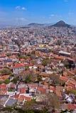 上城查看的雅典 免版税图库摄影