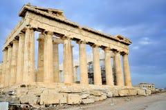上城的帕台农神庙在雅典 库存图片