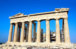 上城的帕台农神庙,雅典,希腊 库存图片
