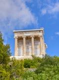 上城雅典娜・雅典希腊耐克寺庙 免版税库存照片