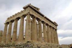 上城雅典希腊帕台农神庙 免版税库存图片