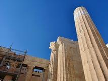 上城雅典希腊 库存照片