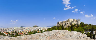 上城雅典希腊 免版税库存图片