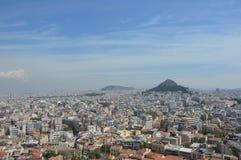 上城雅典视图 免版税图库摄影