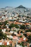 上城雅典都市风景希腊小山 库存照片