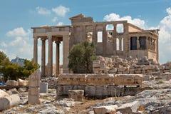 上城雅典erechteion希腊 库存照片