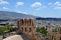 上城,雅典希腊 库存图片