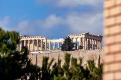 上城,雅典,希腊著名帕台农神庙  库存图片