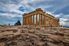 上城-帕台农神庙雅典-希腊 免版税库存图片