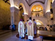 登上塔博尔,以色列, 2015年7月10日:在Tra的教会里面 免版税库存图片