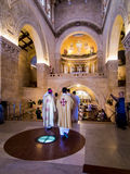 登上塔博尔,以色列, 2015年7月10日:在Tra的教会里面 免版税图库摄影
