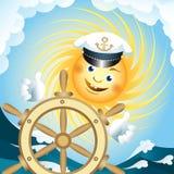 上尉太阳 免版税图库摄影