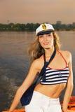 上尉女孩帽子s 免版税图库摄影