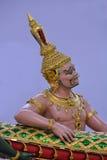 上帝和邪魔泰国的素万那普机场 免版税库存照片