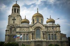 上帝大教堂的母亲的Dormition在瓦尔纳保加利亚 免版税库存照片