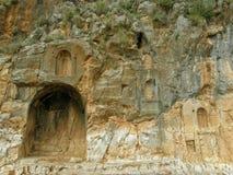 上帝平底锅的崇拜中心在Banyas,以色列 免版税库存图片